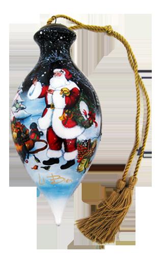 Li Bien Santa Ornaments